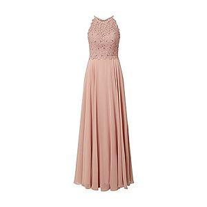 LUXUAR Večerné šaty 'Maxikleid Neckholder Blumenspitze' rosé vyobraziť