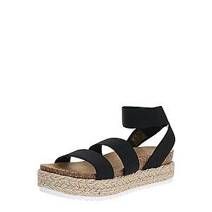 STEVE MADDEN Sandále 'KIMMIE' biela / čierna / pieskový vyobraziť
