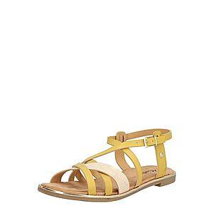 MUSTANG Remienkové sandále žltá / hnedá vyobraziť