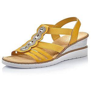 RIEKER Sandále žlté vyobraziť