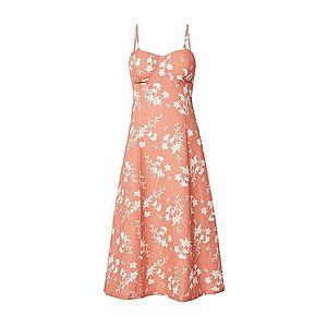 EDITED Letné šaty 'Yumiko' svetlooranžová / biela vyobraziť