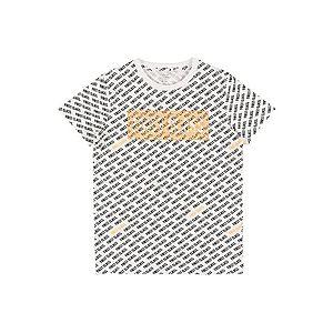 NAME IT Tričko biela / čierna / oranžová vyobraziť