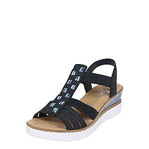 RIEKER Remienkové sandále tmavomodrá vyobraziť
