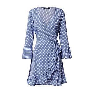 Boohoo Kokteilové šaty 'Polka' svetlomodrá vyobraziť