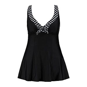 Ulla Popken Plavkové šaty čierna vyobraziť