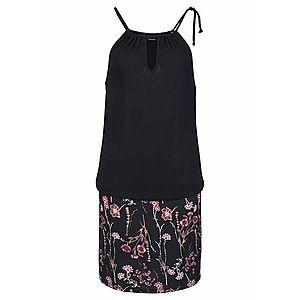 LASCANA Letné šaty cyklaménová / čierna vyobraziť
