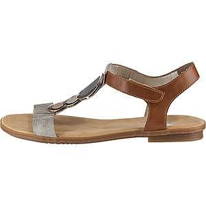 RIEKER Remienkové sandále hnedé vyobraziť
