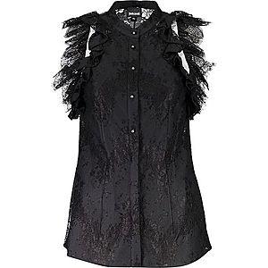 Just Cavalli dámska košeľa Farba: čierna, Veľkosť: 44 vyobraziť