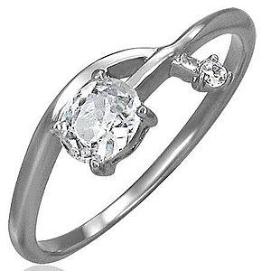 Zásnubný prsteň - prepletená zirkónová šípka D15.18 vyobraziť