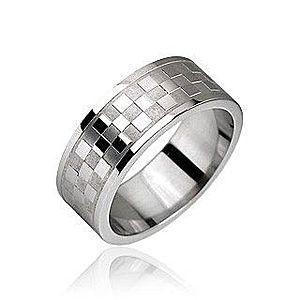 Oceľový prsteň, vzor šachovnica J4.6/J5.6 vyobraziť