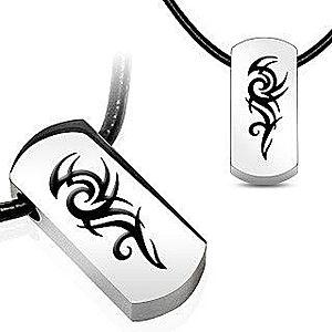 Náhrdelník s príveskom z ocele - symbol TRIBAL Q6.3 vyobraziť