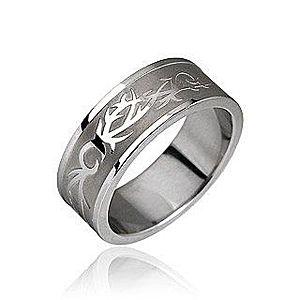 Oceľový prsteň - tribal motív F3.5 vyobraziť