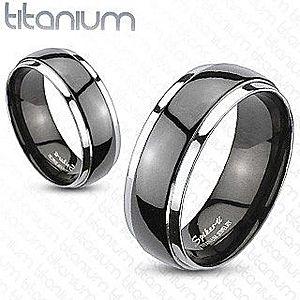 Obrúčka z titánu - čierno strieborná farba B1.1 vyobraziť