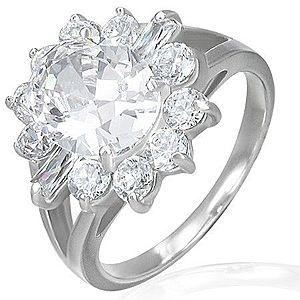 Zásnubný prsteň - mohutný zirkónový kvet F6.10 vyobraziť