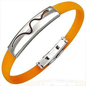 Oranžový gumový náramok - vlniaci sa had U3.18 vyobraziť