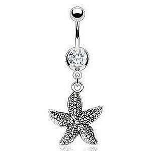Vintage piercing do pupka - morská hviezdica F13.18 vyobraziť