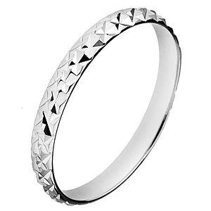 Strieborný trblietavý prsteň 925 - vystúpené kosoštvorce H13.10 vyobraziť