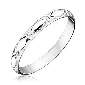 Strieborný prsteň 925 - obrysy zrnka a lúče H13.9 vyobraziť