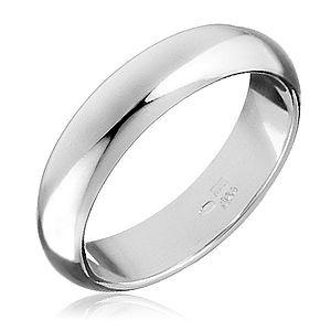Strieborný prsteň 925 - hladká, mierne vypuklá obrúčka H15.11 vyobraziť