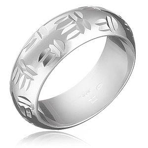 Strieborný prsteň 925 - indiánsky motív, dvojité zárezy H14.11 vyobraziť