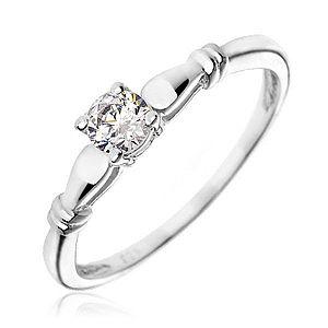 Strieborný zásnubný prsteň 925 - číry zirkón, dvojité prstence X42.12 vyobraziť