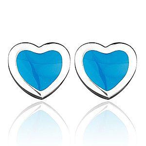 Oceľové puzetové srdiečka - modrá výplň AA13.15 vyobraziť
