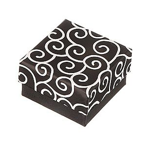 Krabička na náušnice - čierna s točeným motívom Y27.12 vyobraziť