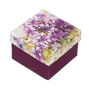 Darčeková krabička na prsteň - motív fialiek Y28.16 vyobraziť