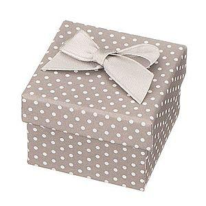 Sivá darčeková krabička na šperk - biele bodky s mašľou Y29.18 vyobraziť