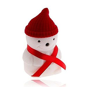 Darčeková krabička na prsteň, snehuliak s červenou čiapkou U26.16 vyobraziť