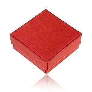 Darčeková krabička na prsteň a náušnice, perleťová červená farba Y32.14 vyobraziť