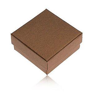 Darčeková krabička na prsteň a náušnice v bronzovej farbe Y27.5 vyobraziť