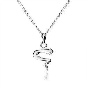 Náhrdelník zo striebra 925, lesklý zvlnený had, jemná nastaviteľná retiazka SP57.06 vyobraziť