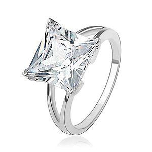 Zásnubný strieborný 925 prsteň s masívnym štvorcovým zirkónom HH18.12 vyobraziť