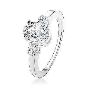 Zásnubný prsteň s tromi trblietavými zirkónmi, striebro 925 HH18.19 vyobraziť
