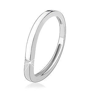 Strieborný prsteň 925, zvlnená línia, lesklý hladký povrch HH5.11 vyobraziť