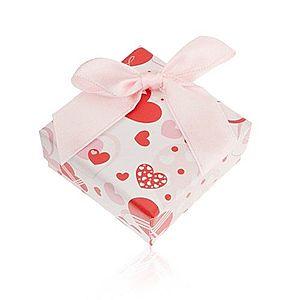 Darčeková krabička na prsteň a náušnice s romantickým motívom, srdcia U23.11 vyobraziť