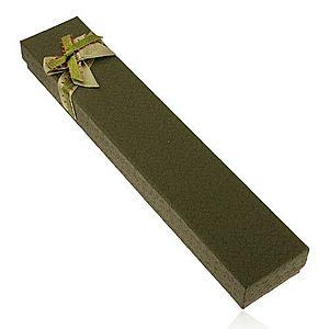 Darčeková krabička na retiazku a hodinky, tmavozelený odtieň, mašľa U25.15 vyobraziť