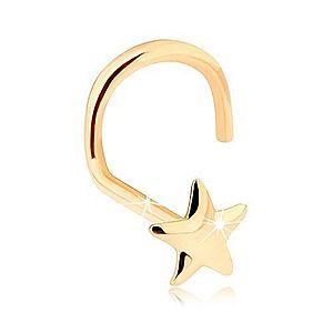 Zlatý piercing do nosa 585 - lesklá päťcípa hviezdička GG95.34 vyobraziť