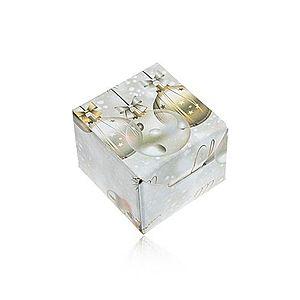 Papierová krabička na darček - prsteň, náušnice alebo prívesok, vianočný motív Y60.11 vyobraziť