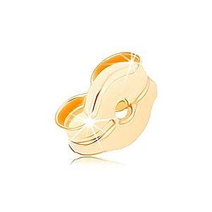 Náhradné brzdítko zo žltého 9K zlata, súčasť zapínania puzetových náušníc GG108.04 vyobraziť
