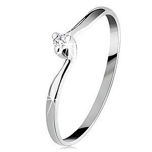 Zásnubný prsteň v bielom 14K zlate - číry brúsený diamant, úzke ramená BT153.76/80 vyobraziť