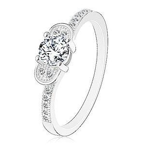 Zásnubný prsteň, striebro 925 - trblietavá mašlička z čírych zirkónov J10.03 vyobraziť