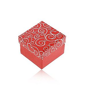 Darčeková krabička v červenom odtieni, biele srdiečkové ornamenty Y03.05 vyobraziť