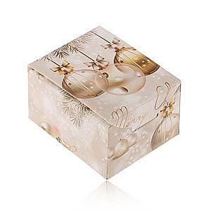 Vianočná krabička na darček - prsteň, náušnice alebo prívesok, Merry Christmas U21.13 vyobraziť