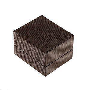 Darčeková krabička na prsteň, prívesok alebo náušnice, tmavohnedá farba, ryhy U31.08 vyobraziť