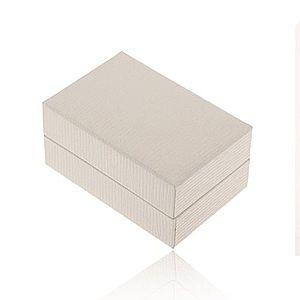 Biela darčeková krabička na prsteň alebo náušnice, ryhovaný povrch Y16.02 vyobraziť
