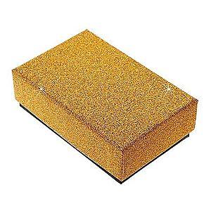 Darčeková krabička na set alebo náhrdelník - trblietavý povrch zlatej farby Y07.11 vyobraziť