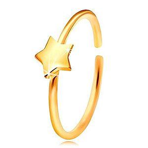 Zlatý 14K piercing do nosa vyobraziť