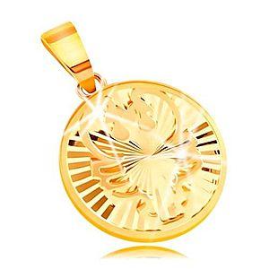 Zlatý prívesok znamenie rak vyobraziť